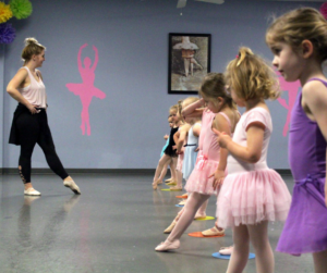 A group of dancers discovering the benefits of ballet classes for toddlers.